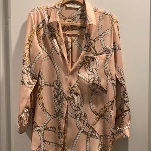 4/$20 Zara Pink Silky Top